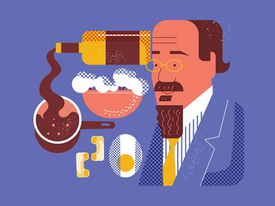 Satie food and drink coton character egg wine item food vector