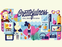 Adobe Createfulness tarwane artwork artist creative adobe illustrator creatfulness card illustration vector adobe