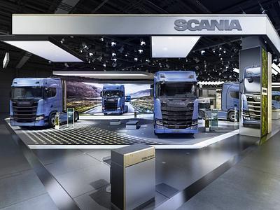 SCANIA Booth Design motor show design stand design booth design booth scania