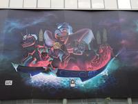 War Canoe  mural