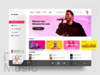 iTunes Redesign - Music