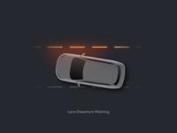 ADAS function illustration - LDW