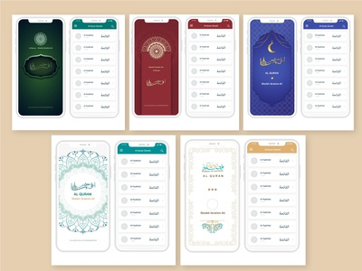 Al-quran App Design app theme design quran app design