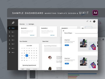 Dashboard Marketing Template Design & UI KIT