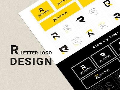 R Letter Logo Template Design