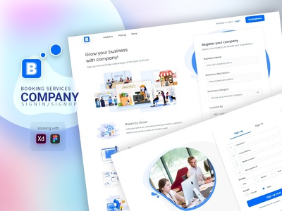 Booking services- company sign in-signup