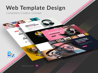 Creative Web Template Design-Market booth