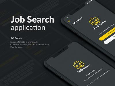 Job Search app design template ios job app design job search app find job template design design for find job job seeker app job management illustration find a job job board job application