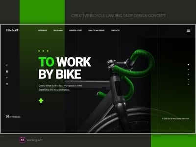 🚲Bicycle landing page design concept