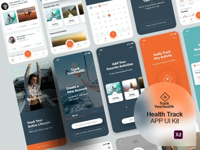 Health Activities Tracking App - UI kit