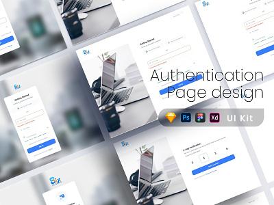 Authentication Page design UI kit