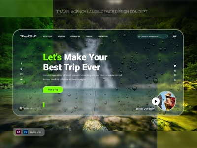 Travel Agency landing page design Concept