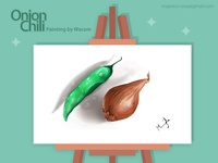 Digital Painting- Onion & Chili