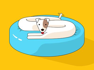 Doggo character vector illustrator dog 2d character illustration design