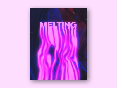 Melting Typography Experiment art poster design texture abstract melting melt poster type typography design