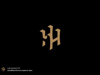 H LOGO 设计 品牌化 徽标