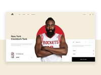 ADIDAS product cart website web ui type typography minimal lettering identity clean character branding man men rebound new adidas design history product cart