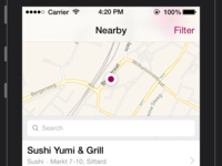 Nearby Restaurants iOS7