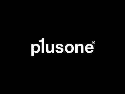 Plusone text logo text plus marketing one lettermark typography logotype minimal branding logomark logo concept logo design logo design