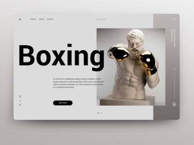 Boxing web after effect type animation ui identity lancedaile illustrator design icon typography vector website minimal ux app logo branding illustration
