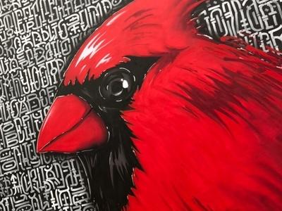 RED CARDINAL / Bird and Geometric typography