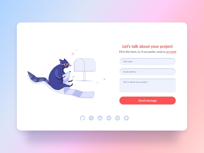 Illustration and form for DesignLabs project by Valor Software illustration ux ui