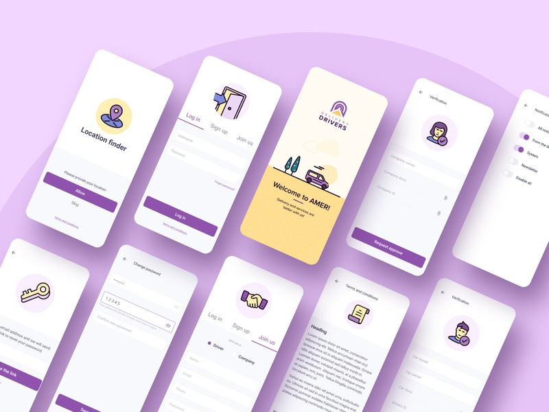 Ui and Illustrations for Delivery App  Part 2
