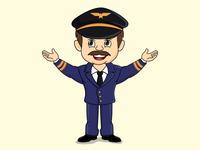look up pose pilot mascot