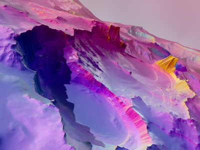 Dream Scape realistic landscape blue colorful lighting poster motiondesign composition design c4d cinema4d render color yellow pink background gradient ui 3d graphic design