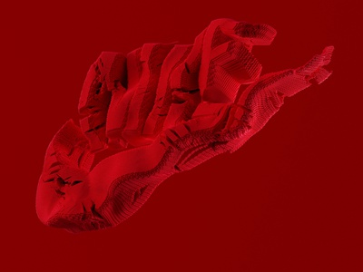 Nike Red Power design motion color c4d cinema4d render designer freelance freelancer motiondesign sports mood red nike branding logo motion graphics graphic design animation 3d