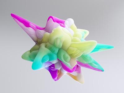 The Shape illustration lighting cover design freelancer designer motiondesign cinema4d c4d shape harmony gradient color background motion graphics 3d animation graphic design