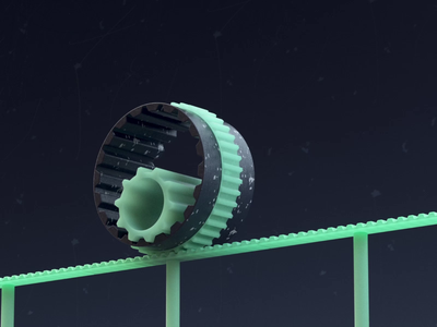 Gears Roll lighting rolling gears contrast satisfying loop video black dark green motion motion graphics animation composition motiondesign render design c4d cinema4d 3d