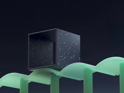 Cube Roll mograph lighting minimalist geometric roll cube video loop black green composition motiondesign render design c4d cinema4d 3d motion graphics graphic design animation
