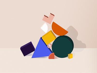 Geometry symphony colorful photoshop illustrator digital illustration digitalart geometric design geometric art geometry minimalism minimal illustration design