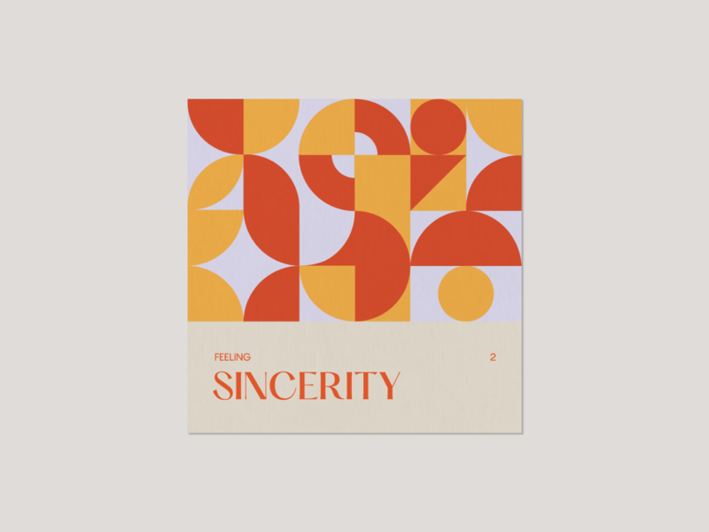 Feeling 2. Sincerity 2d typography vector minimal illustrator digitalart geometric art geometry design illustration