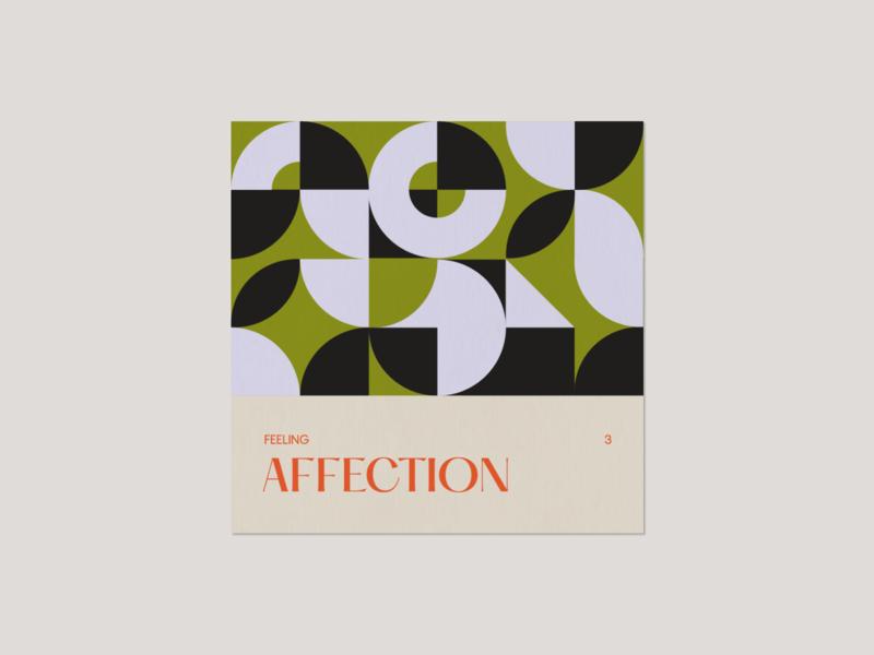 Feeling 3. Affection typography geometry geometric art digitalart 2d vector illustrator minimal illustration design