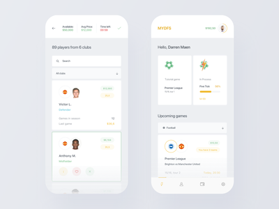 First sports platform powered by blockchain sport blockchain football app football app design ios app ux ui minimal design