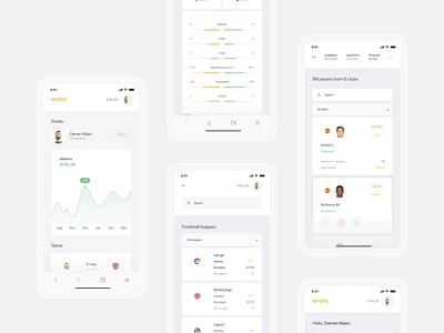 First sports platform powered by blockchain blockchain app design sport football app ios app ux ui minimal design