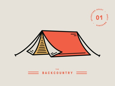 Backcountry — Icon 01 hiking backcountry camp adventure outdoors icon illustration camping tent