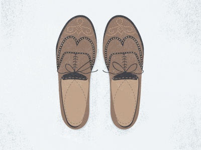 The Wingtips  shoes wingtips illustration