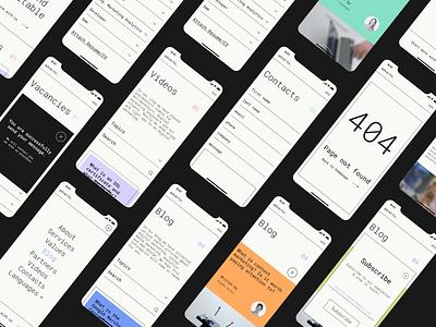 Adverto - Digital Marketing Agency ui application interface figma minimal typography portfolio marketing interaction ui design mobile ios ux branding app web design