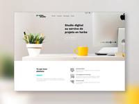 Pousse studio website design