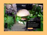 Landing page design   Shiso Burger