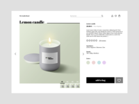 Product page design   Candle Shop