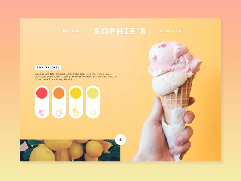 Website design | Ice cream colors ice cream design design agency minimal ui ux web webdesign website branding