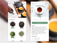 Tea shop app design