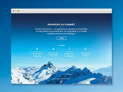 Club Med ui brand graphics design winter context responsive web webdesign sport snow ski