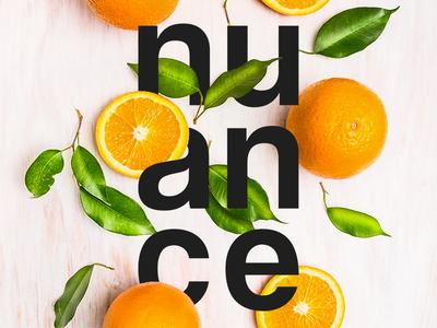 Logo Nuance brand graphics illustration logotype typography graphic color nuance design logo plants fruits