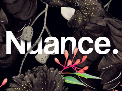 Nuance Black graphic illustration design animal floral typography branding logo