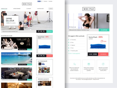 Midipile Refonte brand ui ux shopping home color e-commerce simple flat design web
